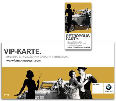 Retropolis Party Anzeige, Flyer